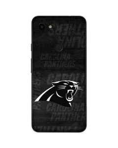 Carolina Panthers Black & White Google Pixel 3a Skin