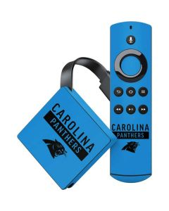 Carolina Panthers Blue Performance Series Amazon Fire TV Skin