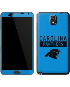 Carolina Panthers Blue Performance Series Galaxy Note 3 Skin