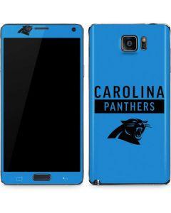 Carolina Panthers Blue Performance Series Galaxy Note5 Skin