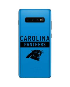 Carolina Panthers Blue Performance Series Galaxy S10 Plus Skin