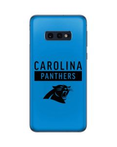 Carolina Panthers Blue Performance Series Galaxy S10e Skin