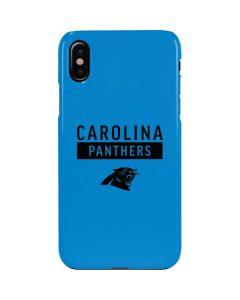 Carolina Panthers Blue Performance Series iPhone XS Max Lite Case