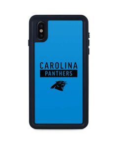 Carolina Panthers Blue Performance Series iPhone XS Max Waterproof Case
