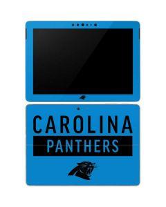 Carolina Panthers Blue Performance Series Surface Go Skin