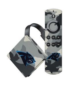 Carolina Panthers Camo Amazon Fire TV Skin