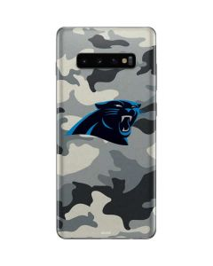 Carolina Panthers Camo Galaxy S10 Plus Skin