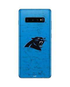 Carolina Panthers Distressed Alternate Galaxy S10 Plus Skin