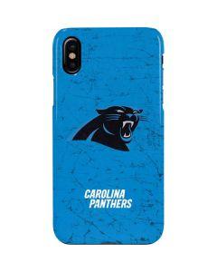Carolina Panthers Distressed Alternate iPhone XS Max Lite Case