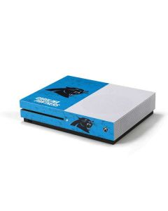 Carolina Panthers Distressed Alternate Xbox One S Console Skin