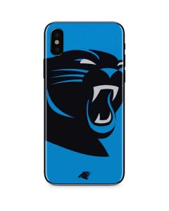 Carolina Panthers Large Logo iPhone XS Max Skin