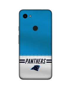 Carolina Panthers White Striped Google Pixel 3a Skin