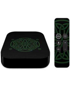Celtic Cross on Black Apple TV Skin