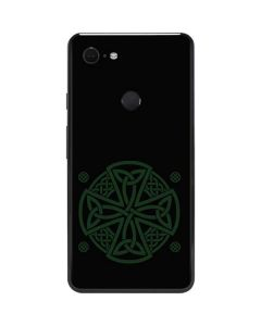 Celtic Cross on Black Google Pixel 3 XL Skin