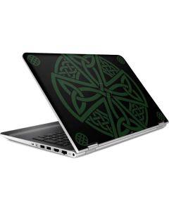 Celtic Cross on Black HP Pavilion Skin