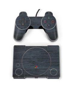 Charcoal Wood PlayStation Classic Bundle Skin