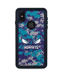 Charlotte Hornets Digi Camo iPhone X Waterproof Case