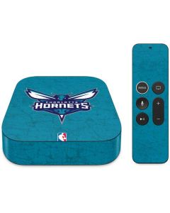 Charlotte Hornets Distressed-Aqua Apple TV Skin