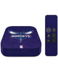 Charlotte Hornets Distressed-Purple Apple TV Skin