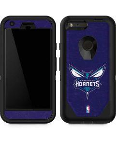 Charlotte Hornets Distressed-Purple Otterbox Defender Pixel Skin