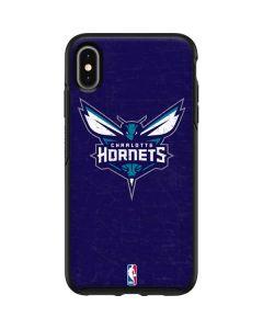 Charlotte Hornets Distressed-Purple Otterbox Symmetry iPhone Skin