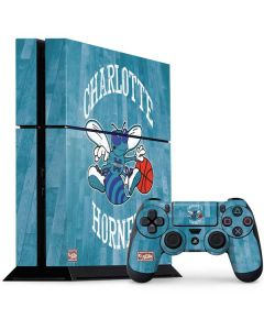 Charlotte Hornets Hardwood Classics PS4 Console and Controller Bundle Skin