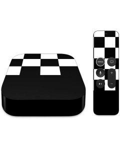 Checkerboard Split Apple TV Skin