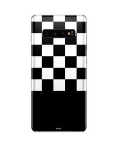 Checkerboard Split Galaxy S10 Plus Skin