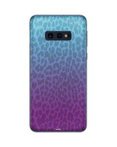 Cheetah Print Purple and Blue Galaxy S10e Skin