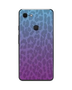 Cheetah Print Purple and Blue Google Pixel 3 XL Skin