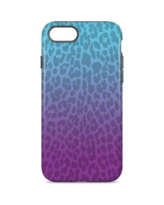 Cheetah Print Purple and Blue iPhone 8 Pro Case