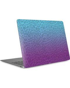Cheetah Print Purple and Blue Apple MacBook Air Skin