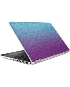 Cheetah Print Purple and Blue HP Pavilion Skin