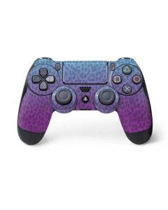 Cheetah Print Purple and Blue PS4 Controller Skin