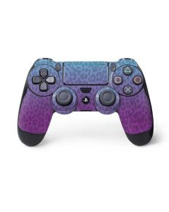 Cheetah Print Purple and Blue PS4 Pro/Slim Controller Skin