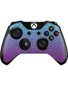 Cheetah Print Purple and Blue Xbox One Controller Skin