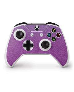 Cheetah Print Purple and Blue Xbox One S Controller Skin