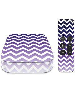 Chevron Purple Ombre Apple TV Skin