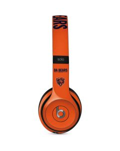 Chicago Bears Team Motto Beats Solo 2 Wired Skin