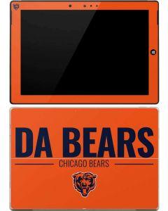 Chicago Bears Team Motto Surface 3 Skin