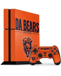 Chicago Bears Team Motto PS4 Console and Controller Bundle Skin