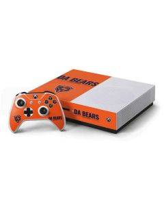 Chicago Bears Team Motto Xbox One S Console and Controller Bundle Skin