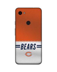 Chicago Bears White Striped Google Pixel 3a Skin