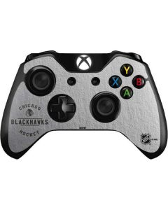 Chicago Blackhawks Black Text Xbox One Controller Skin