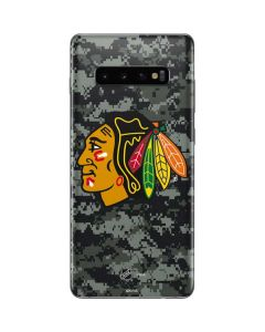 Chicago Blackhawks Camo Galaxy S10 Plus Skin