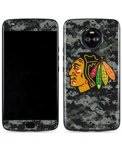 Chicago Blackhawks Camo Moto X4 Skin