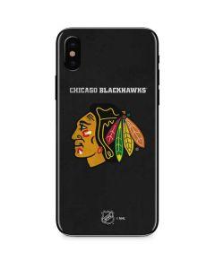 Chicago Blackhawks Distressed iPhone XS Skin