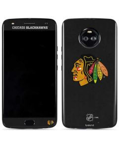Chicago Blackhawks Distressed Moto X4 Skin