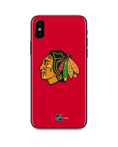 Chicago Blackhawks Solid Background iPhone XS Skin
