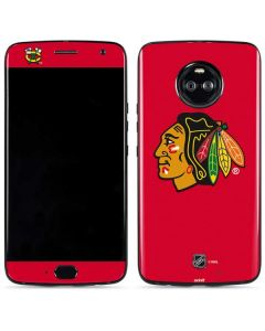 Chicago Blackhawks Solid Background Moto X4 Skin